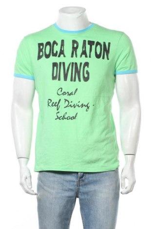 Ανδρικό t-shirt Fishbone, Μέγεθος L, Χρώμα Πράσινο, Βαμβάκι, Τιμή 9,94€