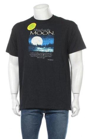 Мъжка тениска Gildan, Размер L, Цвят Син, Памук, Цена 27,93лв.