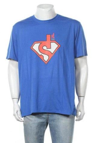 Мъжка тениска Gildan, Размер XL, Цвят Син, Полиестер, Цена 15,75лв.
