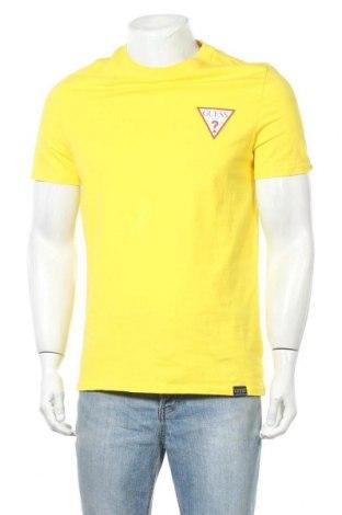 Pánské tričko  Guess, Velikost M, Barva Žlutá, Bavlna, Cena  677,00Kč