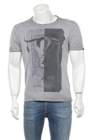 Ανδρικό t-shirt Guess, Μέγεθος S, Χρώμα Γκρί, Βαμβάκι, Τιμή 15,59€