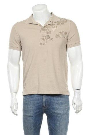 Ανδρικό t-shirt Guess, Μέγεθος S, Χρώμα  Μπέζ, Βαμβάκι, Τιμή 16,89€