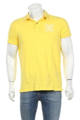 Мъжка тениска Hollister, Размер XL, Цвят Жълт, Памук, Цена 17,85лв.