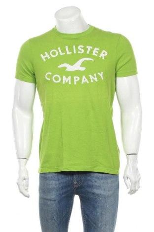 Мъжка тениска Hollister, Размер L, Цвят Зелен, Памук, Цена 17,85лв.