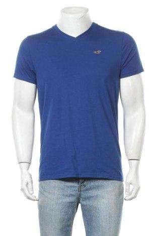 Мъжка тениска Hollister, Размер M, Цвят Син, 60% памук, 40% полиестер, Цена 17,85лв.