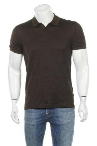 Мъжка тениска Hugo Boss, Размер M, Цвят Зелен, Памук, Цена 53,25лв.