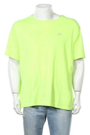 Мъжка тениска Kalenji, Размер XL, Цвят Зелен, Цена 3,68лв.