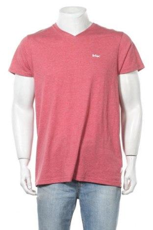 Мъжка тениска Lee Cooper, Размер L, Цвят Розов, 65% полиестер, 35% памук, Цена 14,30лв.