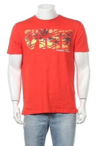 Ανδρικό t-shirt Manguun, Μέγεθος XL, Χρώμα Κόκκινο, Βαμβάκι, Τιμή 18,19€