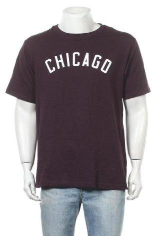 Мъжка тениска SOC, Размер XXL, Цвят Лилав, Памук, Цена 10,66лв.
