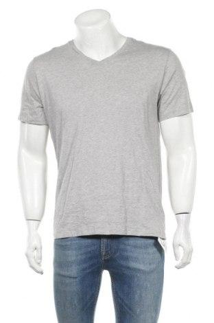 Мъжка тениска Schiesser, Размер M, Цвят Сив, Памук, Цена 13,44лв.