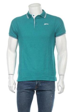 Мъжка тениска Slazenger, Размер S, Цвят Зелен, 65% полиестер, 35% памук, Цена 16,77лв.
