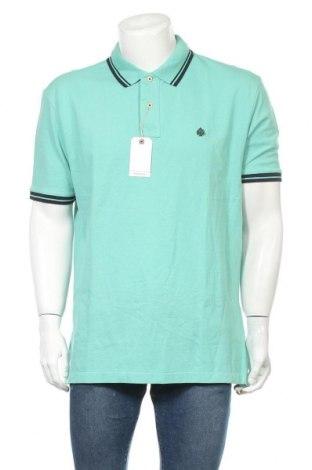 Мъжка тениска Springfield, Размер XXL, Цвят Зелен, Памук, Цена 25,50лв.