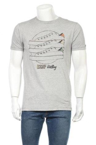 Мъжка тениска Springfield, Размер M, Цвят Сив, 90% памук, 10% вискоза, Цена 25,50лв.