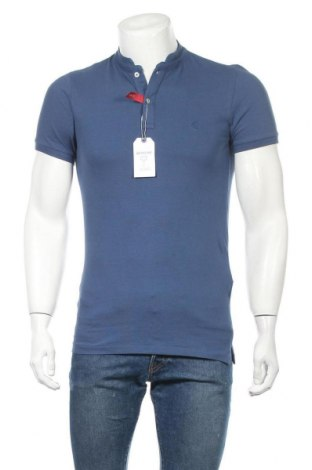 Мъжка тениска Springfield, Размер S, Цвят Син, Памук, Цена 25,50лв.