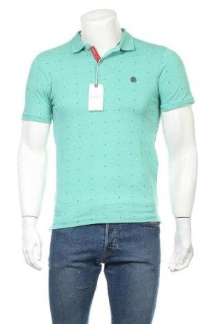 Мъжка тениска Springfield, Размер S, Цвят Зелен, Памук, Цена 25,50лв.
