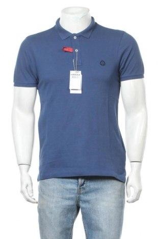 Мъжка тениска Springfield, Размер M, Цвят Син, Памук, Цена 19,50лв.