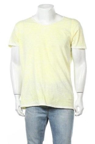 Мъжка тениска Sublevel, Размер XL, Цвят Жълт, Памук, Цена 19,95лв.