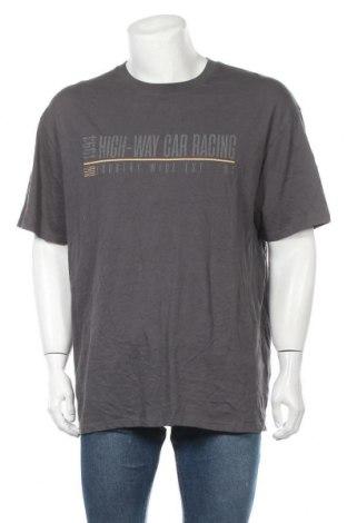 Ανδρικό t-shirt Supre, Μέγεθος M, Χρώμα Γκρί, Βαμβάκι, Τιμή 7,17€