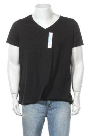 Ανδρικό t-shirt Time and tru, Μέγεθος XXL, Χρώμα Μαύρο, 60% βαμβάκι, 40% πολυεστέρας, Τιμή 9,35€
