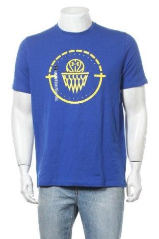 Ανδρικό t-shirt Under Armour, Μέγεθος M, Χρώμα Μπλέ, 57% βαμβάκι, 38% πολυεστέρας, 5% ελαστάνη, Τιμή 18,32€