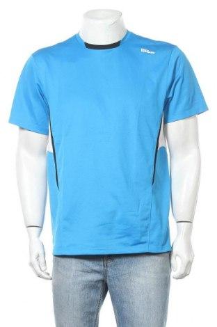 Ανδρικό t-shirt Wilson, Μέγεθος L, Χρώμα Μπλέ, Πολυεστέρας, Τιμή 8,28€