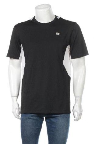 Ανδρικό t-shirt Wilson, Μέγεθος L, Χρώμα Μαύρο, Πολυεστέρας, Τιμή 6,75€