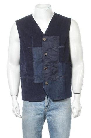 Мъжки елек Desigual, Размер XL, Цвят Син, 80% памук, 20% вискоза, Цена 44,70лв.