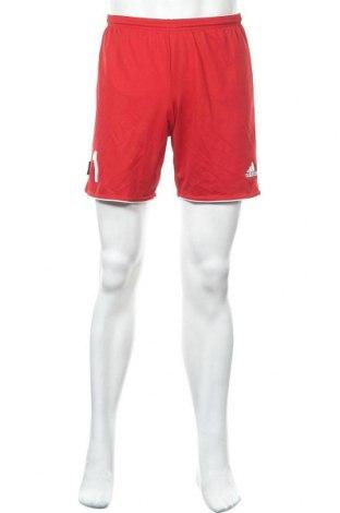 Ανδρικό κοντό παντελόνι Adidas, Μέγεθος S, Χρώμα Κόκκινο, Πολυεστέρας, Τιμή 10,39€