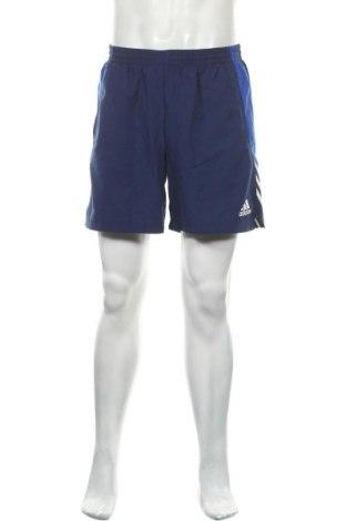 Ανδρικό κοντό παντελόνι Adidas, Μέγεθος L, Χρώμα Μπλέ, Πολυεστέρας, Τιμή 20,78€