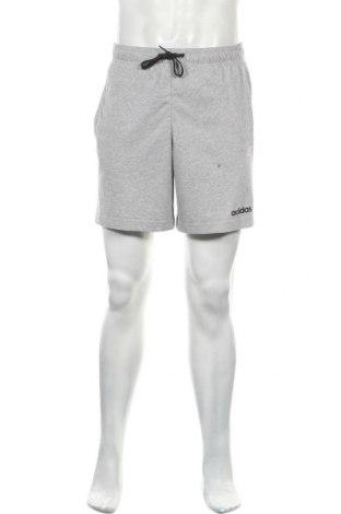 Ανδρικό κοντό παντελόνι Adidas, Μέγεθος M, Χρώμα Γκρί, 70% βαμβάκι, 30% πολυεστέρας, Τιμή 18,84€