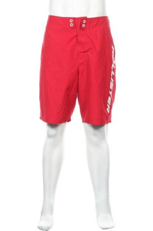 Ανδρικό κοντό παντελόνι Hollister, Μέγεθος XL, Χρώμα Κόκκινο, Πολυεστέρας, Τιμή 20,46€
