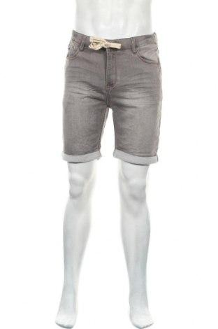 Ανδρικό κοντό παντελόνι Sublevel, Μέγεθος M, Χρώμα Γκρί, 62% βαμβάκι, 37% πολυεστέρας, 1% ελαστάνη, Τιμή 14,29€