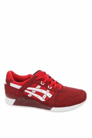 Ανδρικά παπούτσια ASICS, Μέγεθος 44, Χρώμα Κόκκινο, Φυσικό σουέτ, κλωστοϋφαντουργικά προϊόντα, Τιμή 61,47€