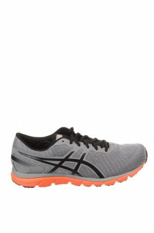 Ανδρικά παπούτσια ASICS, Μέγεθος 44, Χρώμα Γκρί, Κλωστοϋφαντουργικά προϊόντα, δερματίνη, Τιμή 57,60€