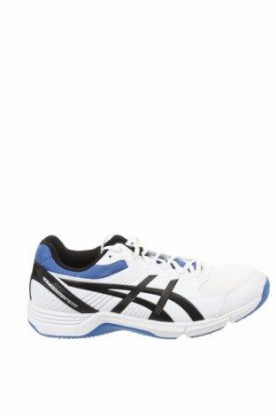 Ανδρικά παπούτσια ASICS, Μέγεθος 44, Χρώμα Λευκό, Δερματίνη, κλωστοϋφαντουργικά προϊόντα, Τιμή 57,60€