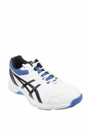 Мъжки обувки ASICS, Размер 42, Цвят Бял, Еко кожа, текстил, Цена 56,62лв.