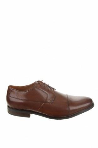 Мъжки обувки Clarks, Размер 47, Цвят Кафяв, Естествена кожа, Цена 72,27лв.