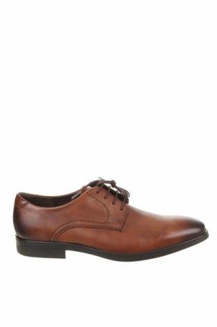 Мъжки обувки Ecco, Размер 48, Цвят Кафяв, Естествена кожа, Цена 76,65лв.
