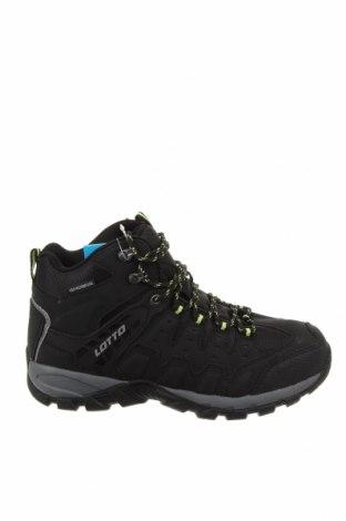 Ανδρικά παπούτσια Lotto, Μέγεθος 43, Χρώμα Μαύρο, Δερματίνη, κλωστοϋφαντουργικά προϊόντα, Τιμή 49,87€