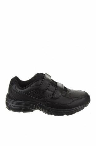 Ανδρικά παπούτσια Lotto, Μέγεθος 43, Χρώμα Μαύρο, Γνήσιο δέρμα, Τιμή 46,01€