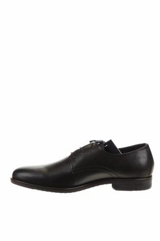 Мъжки обувки Tommy Hilfiger, Размер 45, Цвят Черен, Естествена кожа, Цена 216,75лв.