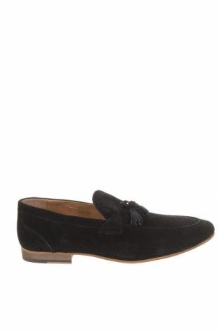 Мъжки обувки Topman, Размер 46, Цвят Черен, Естествен велур, Цена 89,25лв.