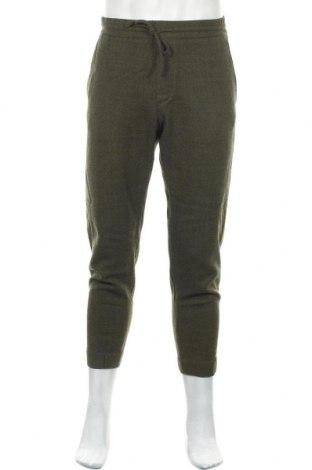 Мъжки панталон COS, Размер S, Цвят Зелен, 99% вълна, 1% еластан, Цена 23,52лв.
