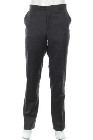 Мъжки панталон Cortefiel, Размер L, Цвят Син, Вълна, Цена 25,50лв.