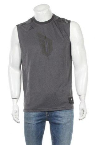 Ανδρική αμάνικη μπλούζα Adidas, Μέγεθος L, Χρώμα Γκρί, Πολυεστέρας, Τιμή 13,51€