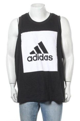 Ανδρική αμάνικη μπλούζα Adidas, Μέγεθος XXL, Χρώμα Μαύρο, Βαμβάκι, Τιμή 13,41€