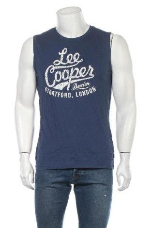 Ανδρική αμάνικη μπλούζα Lee Cooper, Μέγεθος M, Χρώμα Μπλέ, Βαμβάκι, Τιμή 13,92€
