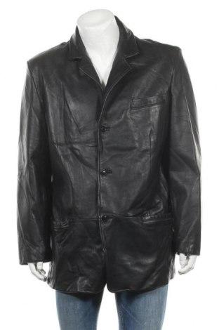 Мъжко кожено яке Nicole Miller, Размер XL, Цвят Черен, Естествена кожа, Цена 110,57лв.