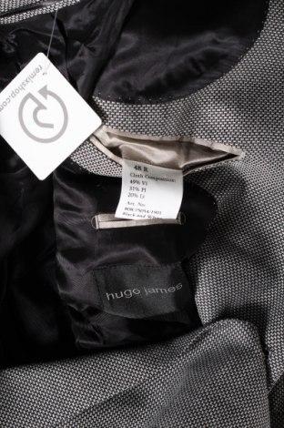 Мъжко сако Hugo James, Размер M, Цвят Черен, 49% вискоза, 31% полиестер, 20% лен, Цена 36,14лв.